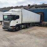 TTM Distribution Trucks / White truck driving on the highway