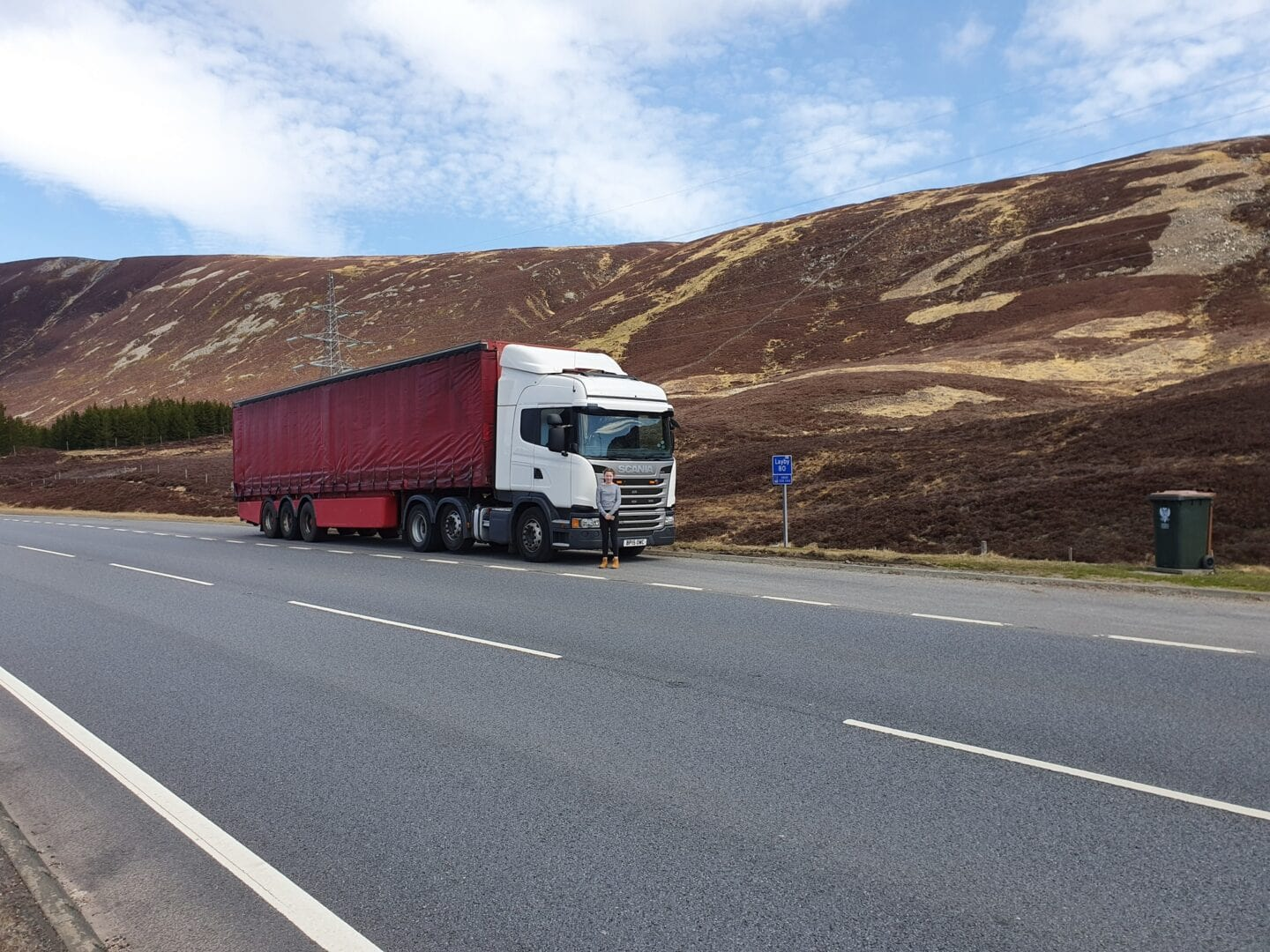 TTM Distribution Trucks / Red truck driving on the highway
